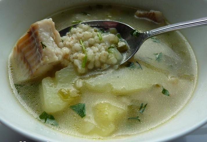 Рыбный суп перловкой рецепт фото